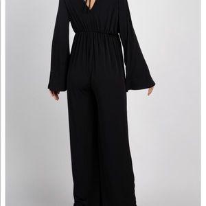 NWT Black Basic Bell Sleeves Maternity Jumpsuit